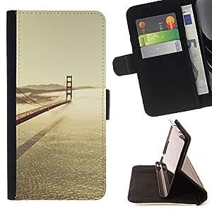 Momo Phone Case / Flip Funda de Cuero Case Cover - SF Bay Bridge;;;;;;;; - LG G2 D800