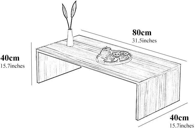 Color : Blanc, Size : 60 * 30 * 30cm Table Basse Table Basse Japonaise Table Basse En Tatami Bureau Bureau Simple Table /À Th/é Chambre /À Coucher