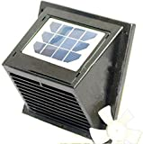 Norestar Solar Powered Wall Vent/Fan with Rechargeable Battery, for Boat, Bathroom, Greenhouse, Shed, and More
