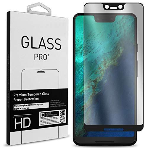 CoverON Google Pixel 3 XL Tempered Glass Screen Protector, [InvisiGuard Series] Complete Full Front Screen Protector for Google Pixel 3 XL [Case Friendly and Bubble-Free] - HD Clear with Black Rim