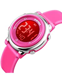 Girls Digital Waterproof Watch, Kids Sport Outdoor...