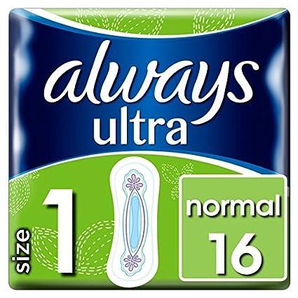 Toallas sanitarias Always Ultra normales 16 por paquete