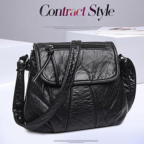 Messenger Crossbody PU Soft Bags Bag Shoulder Handbag Fashion Widewing Leather Women SIwqOOE