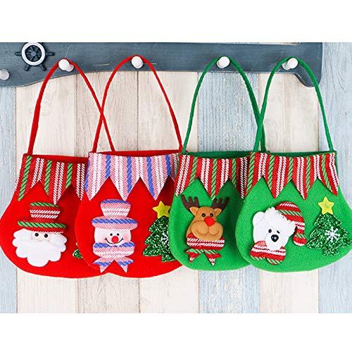 del Regalo Muñeco Gespout de del del Nieve Bolsa del Bolsa no del Caramelo del de del de Regalo de Muñeco Asas Navidad la Nieve de 30cm 4 La Tejida Color Pequeña 19 Niño Asas 1pcs Size qrnUqza