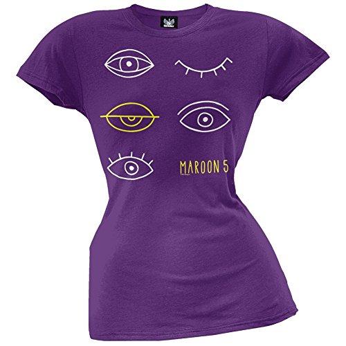 Maroon 5 Merchandise (Maroon 5 - Womens Eyes Juniors T-shirt Large Purple)