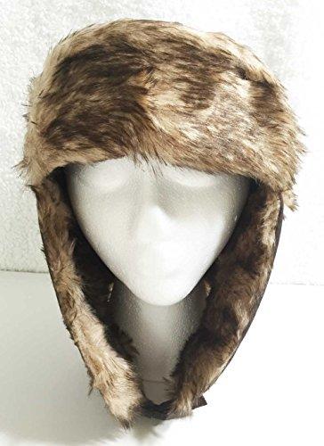 Aesthetinc Faux Fur Fashion Aviator Winter Hat (Red)