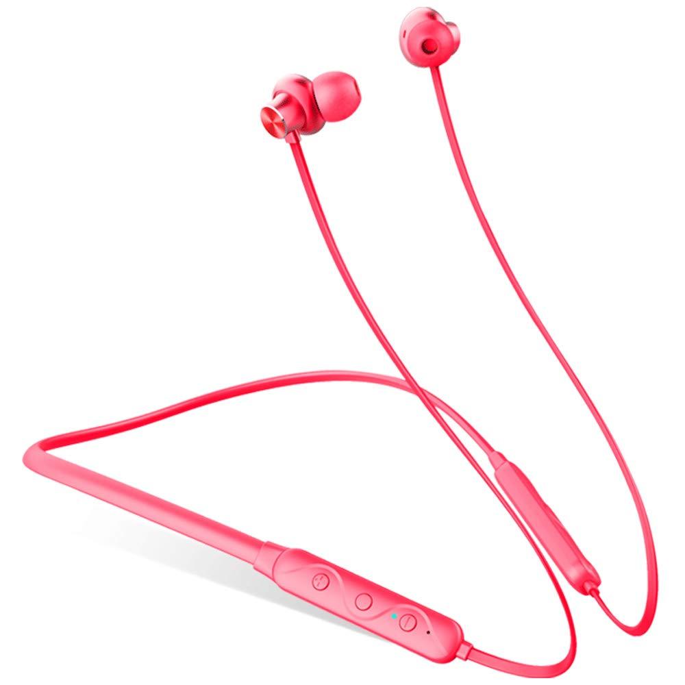 XAJGW Waterproof Magnet Headphones Wireless Bluetooth Sport Earphones Stereo Headset with Microphone (Color : Black)