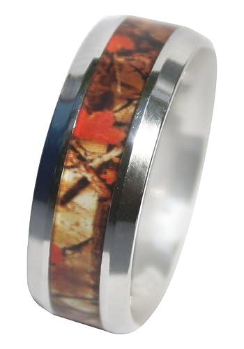 Camo Ring For Men U0026 Women GUARANTEED, 8mm Wild Amber Blaze Orange Camo Ring,