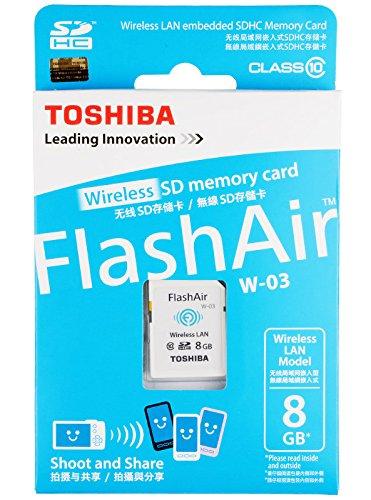 Toshiba Flash Air 8GB Class 10 Wireless Memory Card / Wifi ...