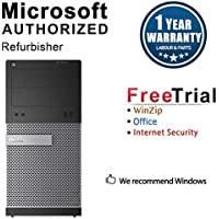 Dell 3010 Business High Performance Tower Desktop Computer(Intel Core i3 3220 3.3G,8G RAM DDR3,500G HDD,DVD,WIFI,Windows 10 Professional)+NEC 22 LCD(Certified Refurbished)