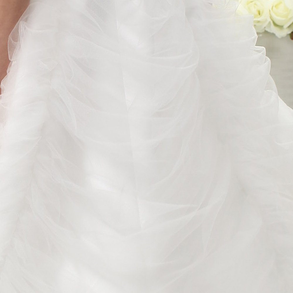 UnionFashionLi Knee Length White Cocktail Lace Wedding Dress with Removable Tail by UnionFashionLi (Image #6)
