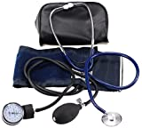 LotFancy Manual Blood Pressure Cuff, Aneroid Sphygmomanometer and Stethoscope Kit with Zipper Case, FDA Approved