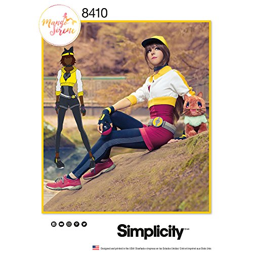 Simplicity Pattern 8410 H5 Misses' Costume by Mango Sirene, Size 6-8-10-12-14