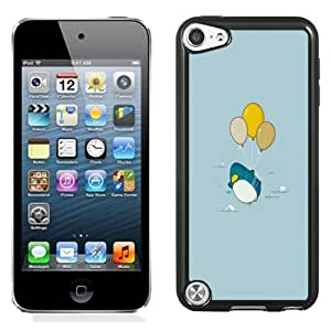 New Personalized Custom Designed For iPod Touch 5th Phone Case For Cartoon Penguin and Balloons Phone Case Cover Kimberly Kurzendoerfer
