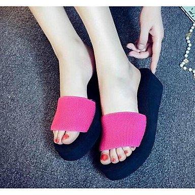 SHOES-XJIH&Uomini sandali Comfort estivo foro luce calzature suole in cuoio in microfibra outdoor casual scarpe da acqua Flat HeelDark luce verde verde blu,verde,US7.5 / EU39 / UK6.5 / CN40