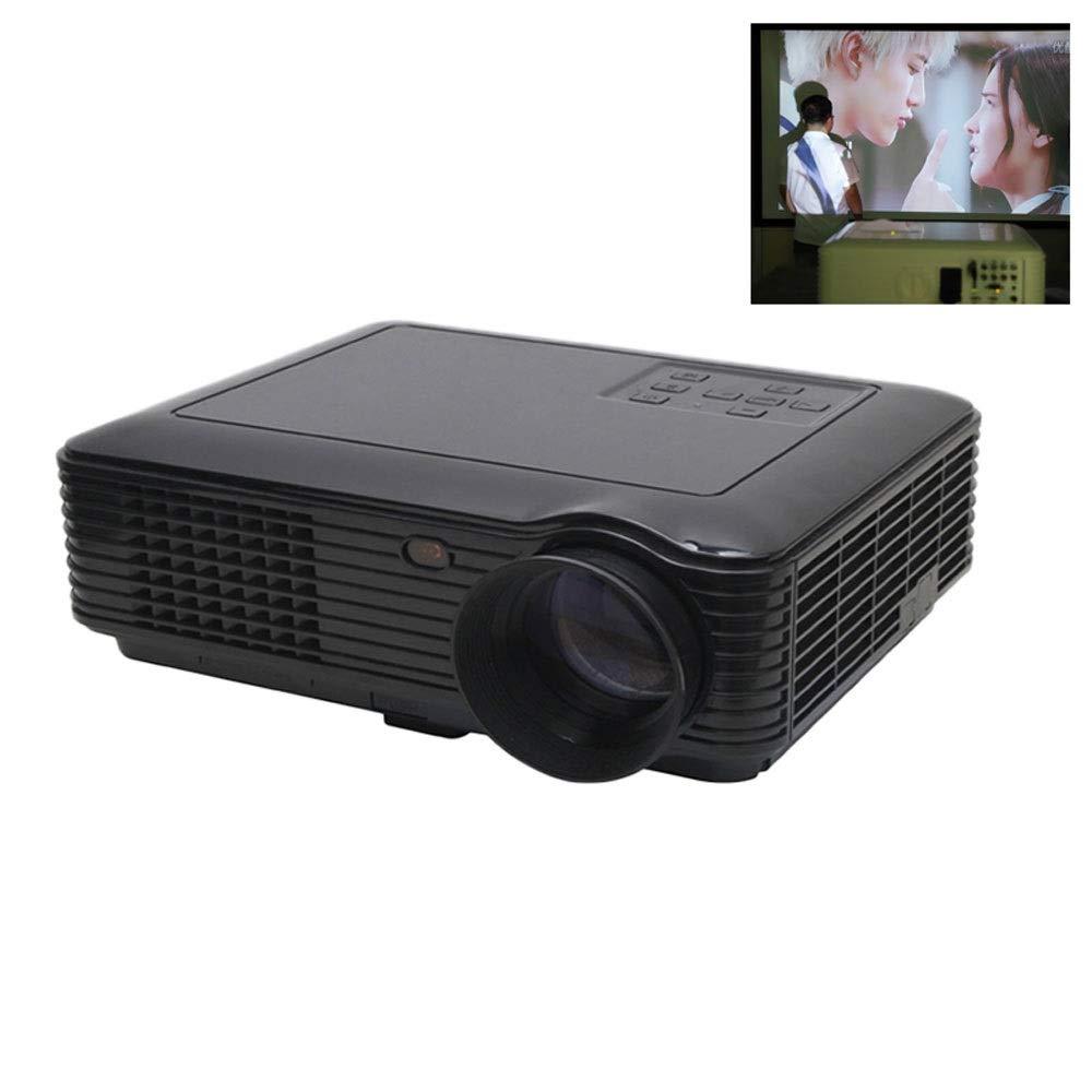 プロジェクターSV-226ミニポータブルホームシアタープロジェクター2800ルーメン内蔵デュアルスピーカーサポートHD 1080 P HDMI/USB/VGA/AV/マイクロSD (色 : ブラック) B07QZM5V6C ブラック