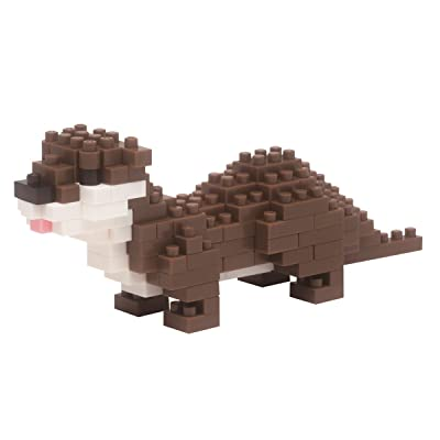 Nanoblock Small Clawed Otter Building Kit: Toys & Games