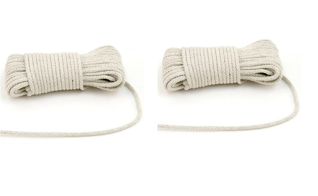 2 Pack Cotton Clothesline 50 Ft All Purpose Rope Home Garden Camping