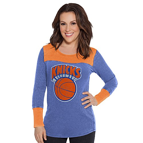 Touch by Alyssa Milano NBA New York Knicks Blindside Thermal, Small, (New York Knicks Vintage T-shirt)