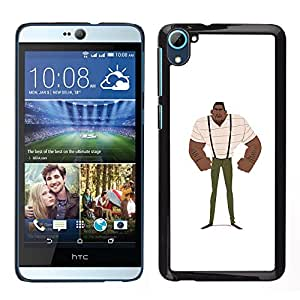 Planetar® ( Muscle Man Black Strong Art Painting Suspenders ) HTC Desire D826 Fundas Cover Cubre Hard Case Cover