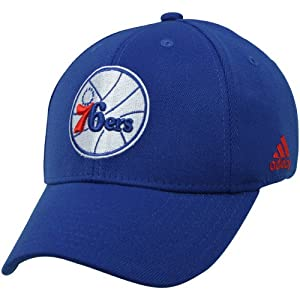 NBA adidas Philadelphia 76ers Basic Logo Structured Flex Hat - Royal Blue