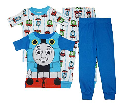 Thomas & Friends Little Boys' Toddler Four-Piece Pajama Set (4T) Blue