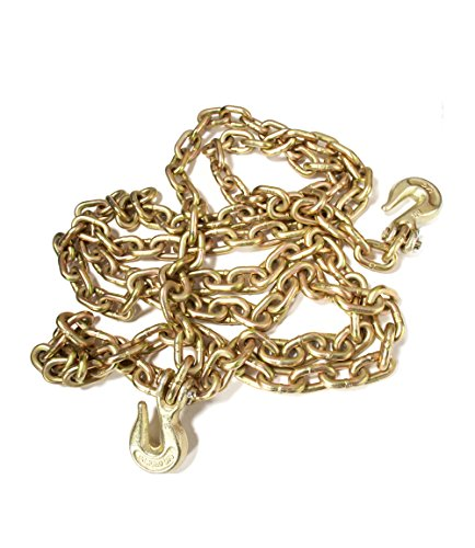Laclede Chain 3524-620-35 3/8'' Grade 70 Transport Chain by 20' Clevis Grab Hook by LACLEDE CHAIN