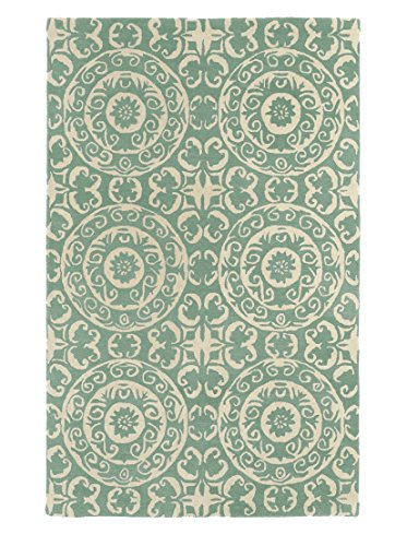 Kaleen Rugs Evolution Hand Tufted Area Rug  Mint Cream  5 X 7 9