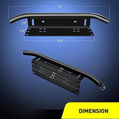 Nilight Led Light Bar Mounting Bracket Front License Plate Frame  Bracket License Plate Mounting Bracket Holder for Off-Road Lights LED Work Lamps Lighting Bars,2 Years Warranty: Automotive