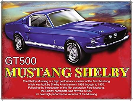 FORD MUSTANG GT MAN CAVE//GARAGE//SHED// PONY CAR METAL SIGN 40X30cm