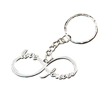 Infinity design silver metal key chain from fashioncraft