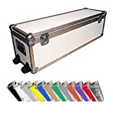 Trunk Case - Stretch ATA Supply Case with Dolly Wheels - Medium Duty 1/4 Ply - Color White