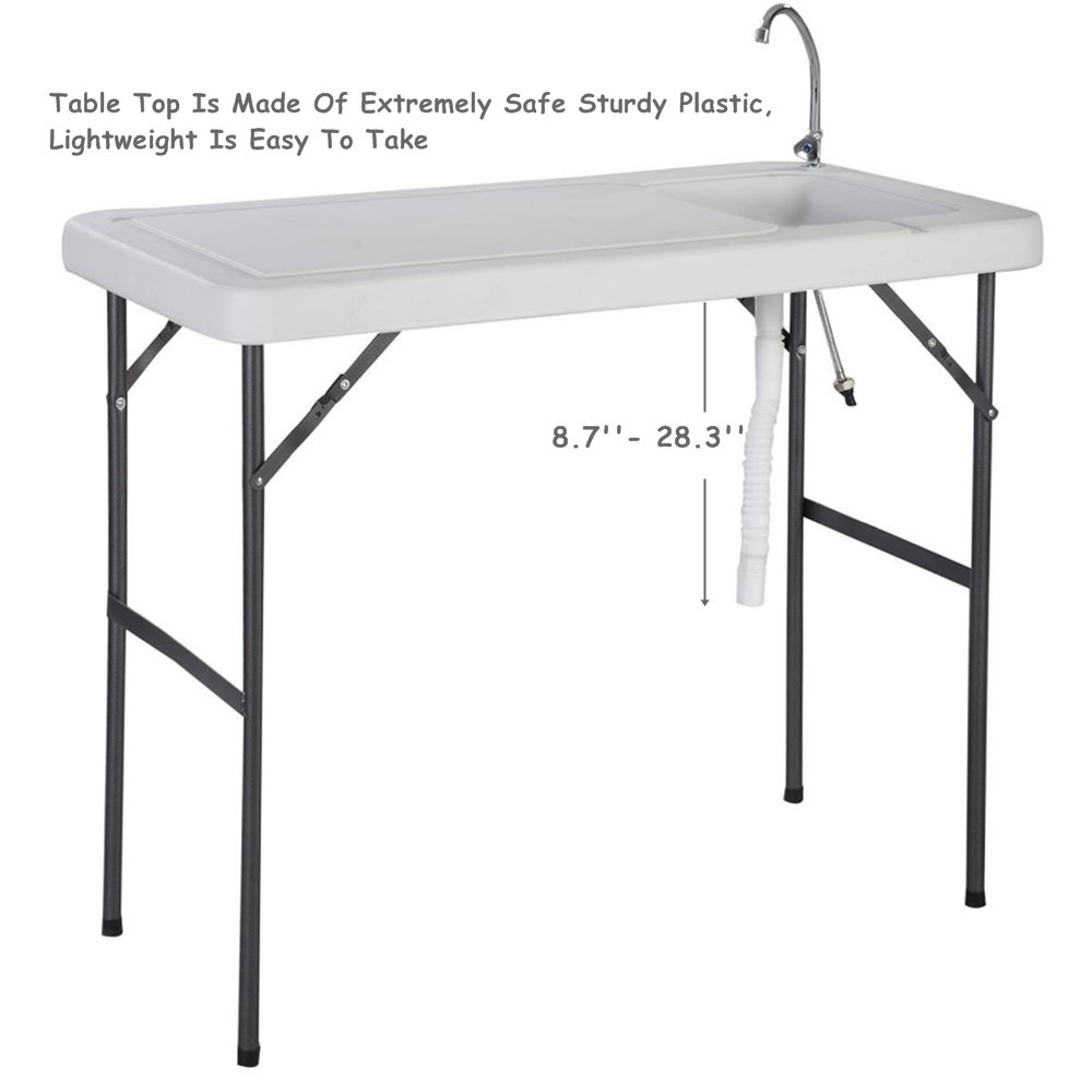 Folding Portable Fish Hunting Cleaning Cutting Table Camping Sink Faucet TKT-11 by TKT-11 (Image #2)