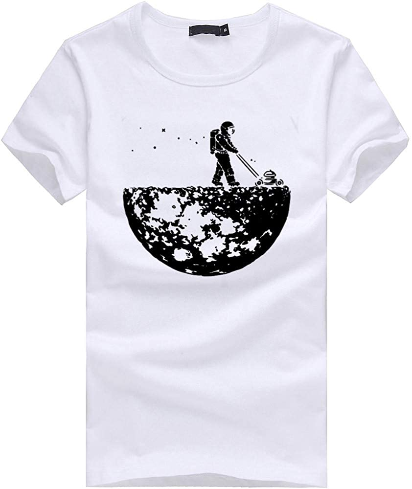 DIOMOR Funny Casual Graphic Slim Fit Short Sleeve T Shirts for Men Fashion Trendy Cotton Soft Pattern Tees Blouse Tops