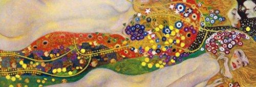 Posters: Gustav Klimt Poster Art Print - Sea Serpents Ii, 1904 1907