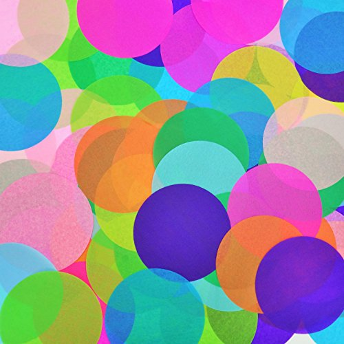 Confetti Circles LARGE 6 Inches Each 9 Different Colors Art Projects. Large