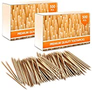 Premium Bamboo Wooden Cocktail Toothpicks - Personal Hygiene, Disposable Appetizer Skewers, Cocktail Sticks or