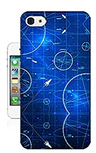 Fashion Element Universe Rocket TPU Hard Phone Case for Iphone 4 4s