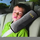 Seatbelt Pillow,Car Seat Belt Covers for Kids,Adjust Vehicle Shoulder Pads,Safety Belt Protector Cushion,Plush Soft Auto Seat Belt Strap Cover Headrest Neck Support for Children Baby Adult (Gray) Image