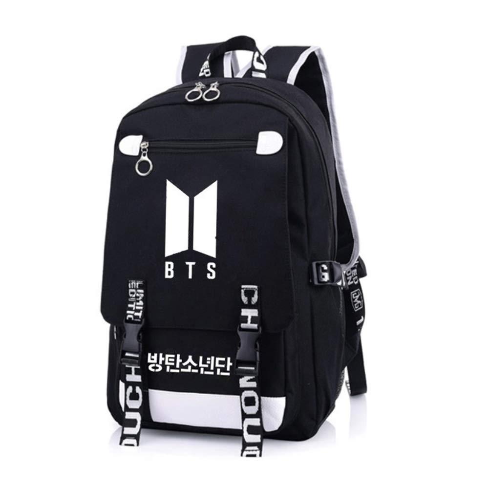 Bosunshine BTS Love Yourself V Suga Jin Jimin Jung Kook Casual Backpack Daypack Laptop Bag College Bag Book Bag School Bag (Black7)