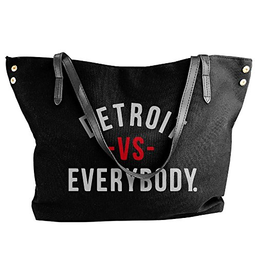 Tote Women's Black Handbag Tote Shoulder Vs Everyone Handbag Hobo Bag Canvas Detroit Large ggTE1