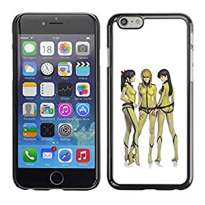 SKCASE Center / Funda Carcasa - Mujer japonesa polluelo amarillo;;;;;;;; - iPhone 6