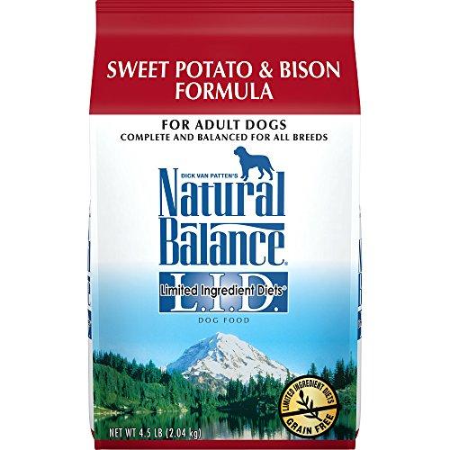 Natural Balance L.I.D. Limited Ingredient Diets Dry Dog Food, Grain Free, Sweet Potato & Bison Formula, 4.5-Pound