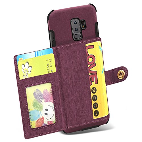Galaxy for Case PU Leather Protective with Slim Back S8 Wallet Credit Plus Holder Card Cover S8 Samsung Khaki Phone Case Rxqq8w6IE