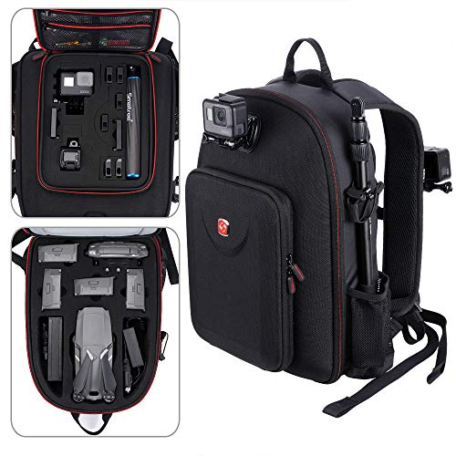 Smatree Backpack Compatible for DJI Mavic 2 Pro/Mavic 2 Zoom/GoPro Hero 2018/ Hero 7/6/5/4/3+/3