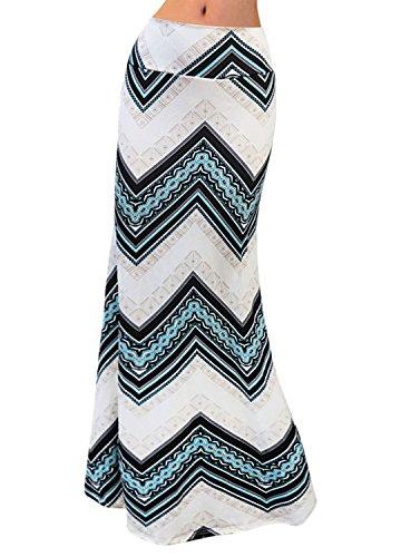 Cintura Navidad Ideal Falda Mujer Novias Larga Geometric Regalo Con Para Blue Boutique De Alta wqHIzqp