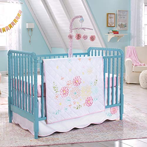 Koala Baby Springtime Slumber 4 Piece Crib Bedding Set, White&Pink