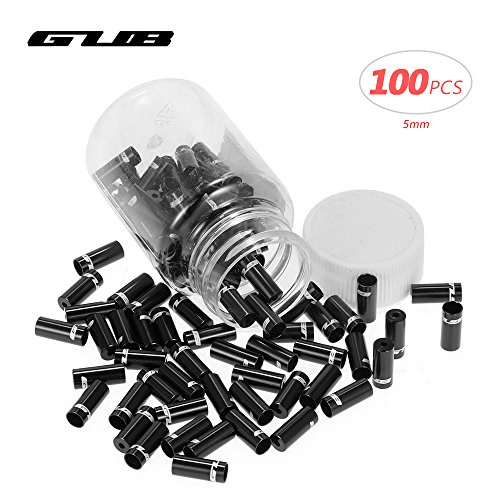 End Housing (Lixada 100pcs 4mm/5mm Aluminum Alloy Bike Derailleur Shift Brake Wire Cable End Cap Shifter Cable Housing Ferrules Tupe Tops Replacement Set)