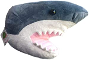 "ADORE 12"" Chum the Shark Head Plush Stuffed Animal Walltoy Wall Mount"