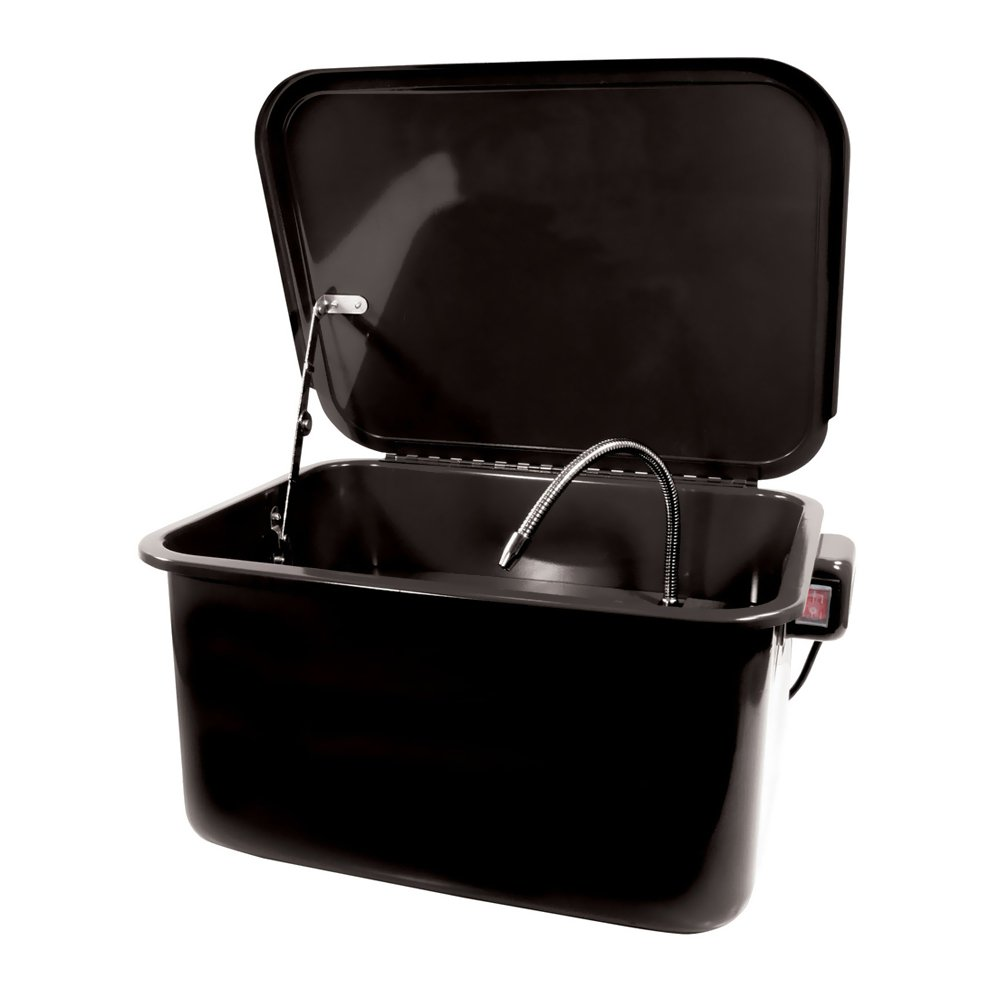 Offex 3.5 Gallon Metal Portable Parts Washer - Black